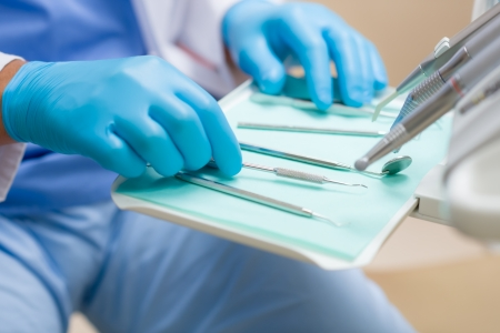 stomatology: Close-up of dental tool equipment in stomatology clinic