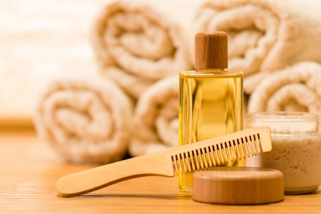 Spa produits de soins corporels naturels brosse à cheveux en bois