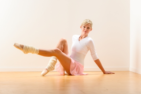 Young beautiful ballerina exercising in the studio woman ballet dancer Stock Photo - 16968408