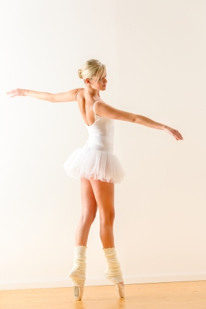 Beautiful ballet dancer dancing in the studio woman ballerina rehearsal Stock Photo - 16984874
