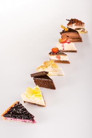 pie de limon: Selección de la torta dulce rebanada opción deliciosa tarta pieza