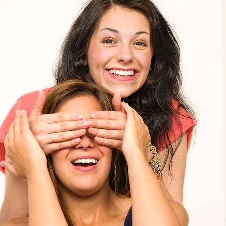Picture of cheerful girls having fun and laughing Stock Photo - 20244481