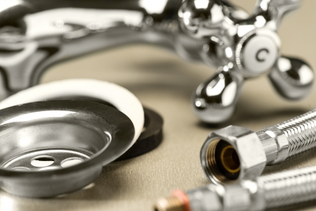 Variety of plumbing accessories photo