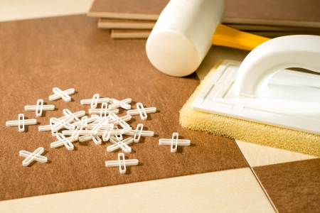 Selection of flooring tools Stock Photo - 22144404
