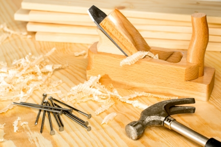 carpentery: Carpentery selection of woodwork tools