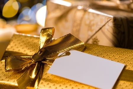 Christmas Gifts with blank tags special occasion photo