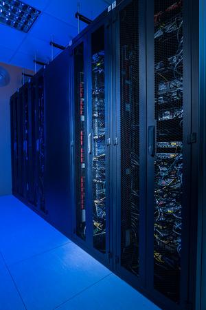 Internet server room in datacenter
