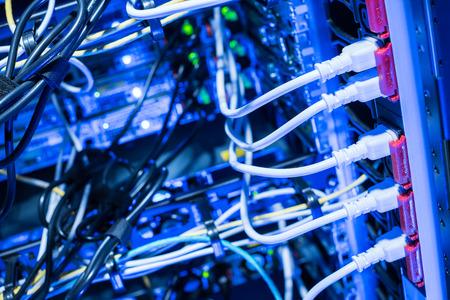 server: Power socket of datacenter of internet server racks