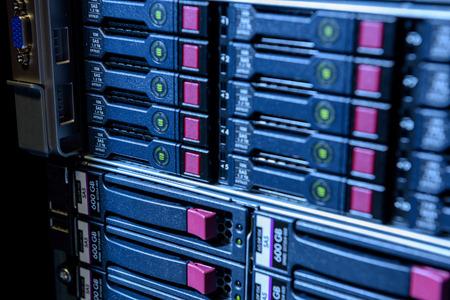 Serveur Internet datacenter vue rapprochée