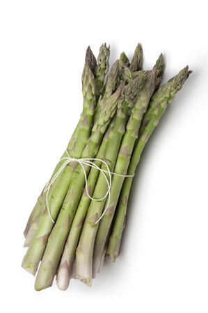 leguminous: bunch of asparagus, on white background Stock Photo