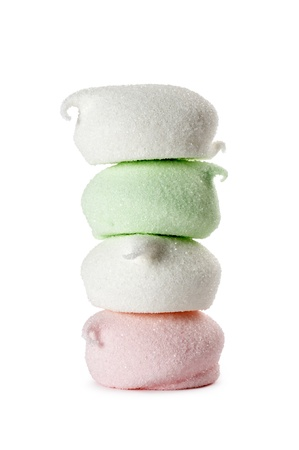 marshmallow stack, isolated on white Stock Photo