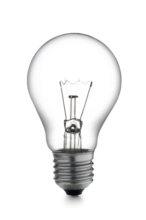 incandescent light bulb, on white background Stock Photo
