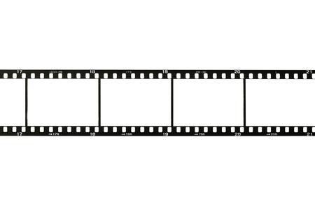 rollo pelicula: Tira de película de 35 mm, aislado en blanco Foto de archivo