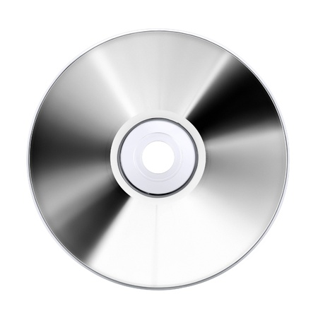 compact disk: compact disk, isolated on white