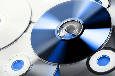 compact disk: colorful compact disk Stock Photo