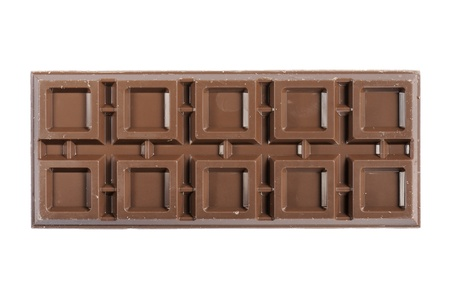 endorphines: chocolate bar, isolated on white