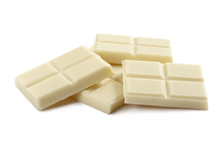 chunk: white chocolate block, on white background