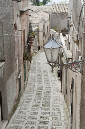 view of ancient road in Erice, Sicily photo