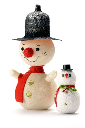 christmas snowman on white background photo