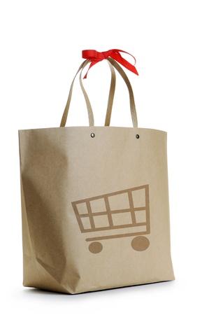 paper shopping bag on white background Stock Photo - 17951737
