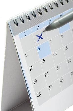 desk calendar, on white background Stock Photo - 17951776