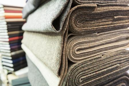 doku: Mağaza renkli pamuk ve yün tekstil Kazık