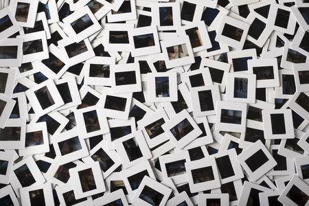 バリウスの種類の写真スライドの数百のスタック