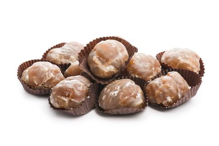 glace: marron glace on white background Stock Photo