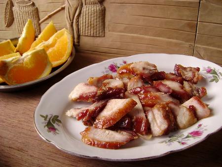 hoisin: Chinese cuisine - roasted pork (char siu)