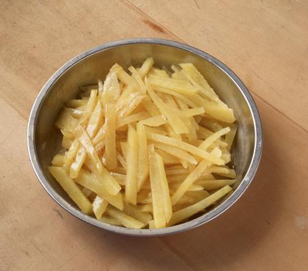 Stir fry vegetable in metal plate