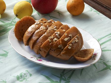 Freshly baked loaf of bread