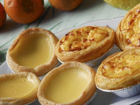 the local characteristics: Meringue egg tarts and Portuguese egg tarts