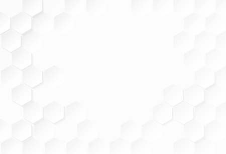 Abstract paper Hexagon with white Background