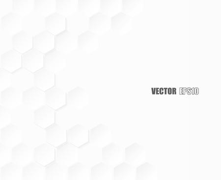 hexagone papier abstrait avec un fond blanc