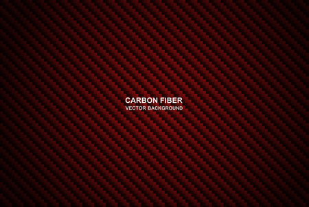 Abstract .Carbon fiber background. red carbon fiber background ,light and shadow. Vector.