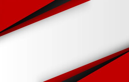 Abstract. Red-black shape geometric overlap background. vector. Vetores