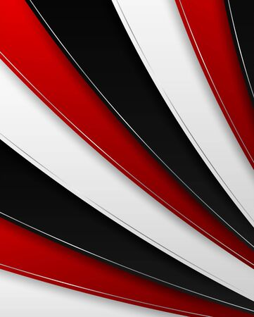 Abstract. red - black gradient geometric overlap shape background. vector.