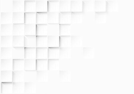 Résumé. Papier gaufré carré fond blanc, lumière et ombre .Vector. Vecteurs