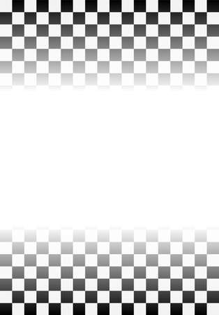 Black and white checkered flag background. sport and race theme, victory flag. vector.