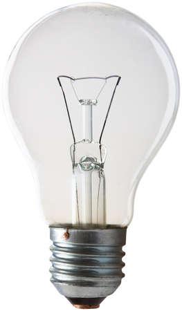 Light bulb on white background. Isolated Ýëåêòðè÷åñêàÿ ëàìïî÷êà íà áåëîì ôîíå. Îáòðàâëåíî photo