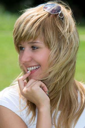 Beautiful happiness girl. Portrait Stock Photo - 1223364