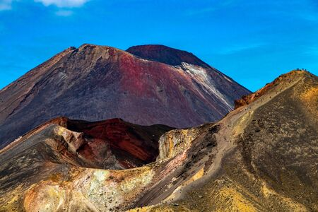 Tongariro Crossing NP in new zealand5 版權商用圖片