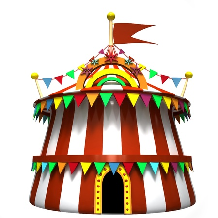 entertainment tent: Illustration of a circus tent