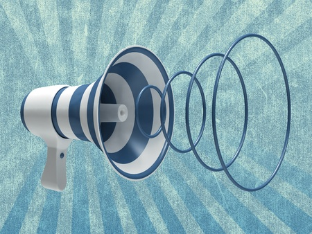 Megaphone on an abstract background Stock Photo - 12026174