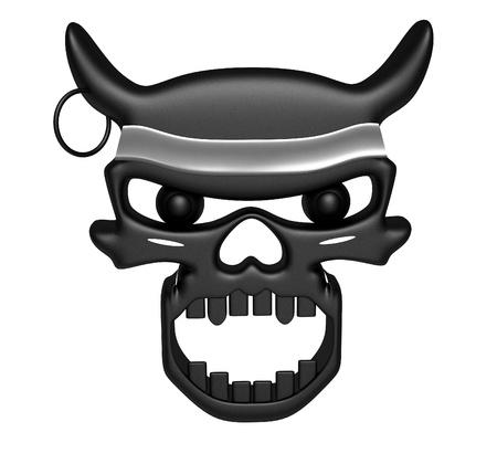 Evil Skull in white background Stock Photo - 12026169