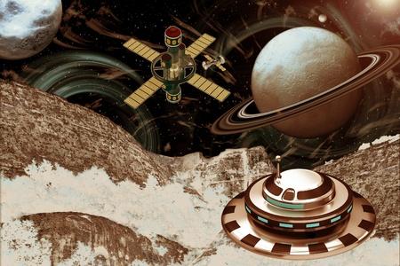 Spacecraft Landscape - Other Worlds photo