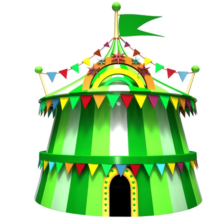 Illustration of a circus tent illustration