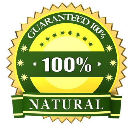 100% natural green label photo