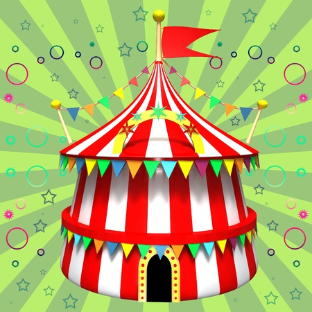 Illustration of a circus tent Stock Illustration - 12044811