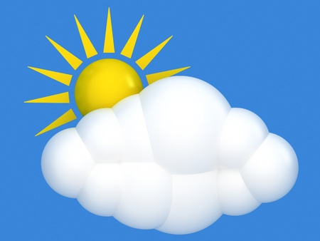 partly: Cloud and sun